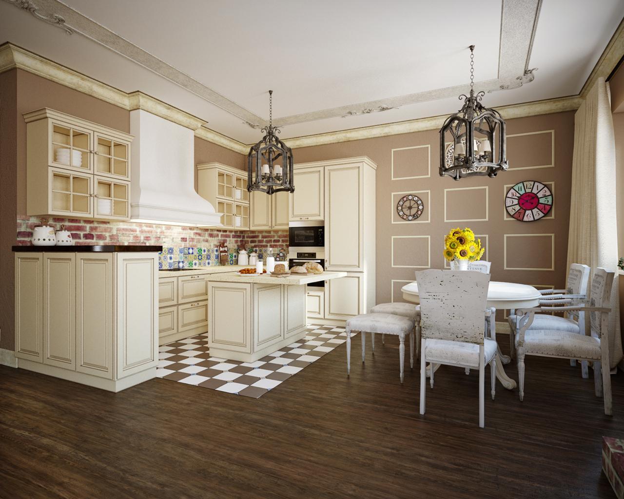 пол для кухни прованс