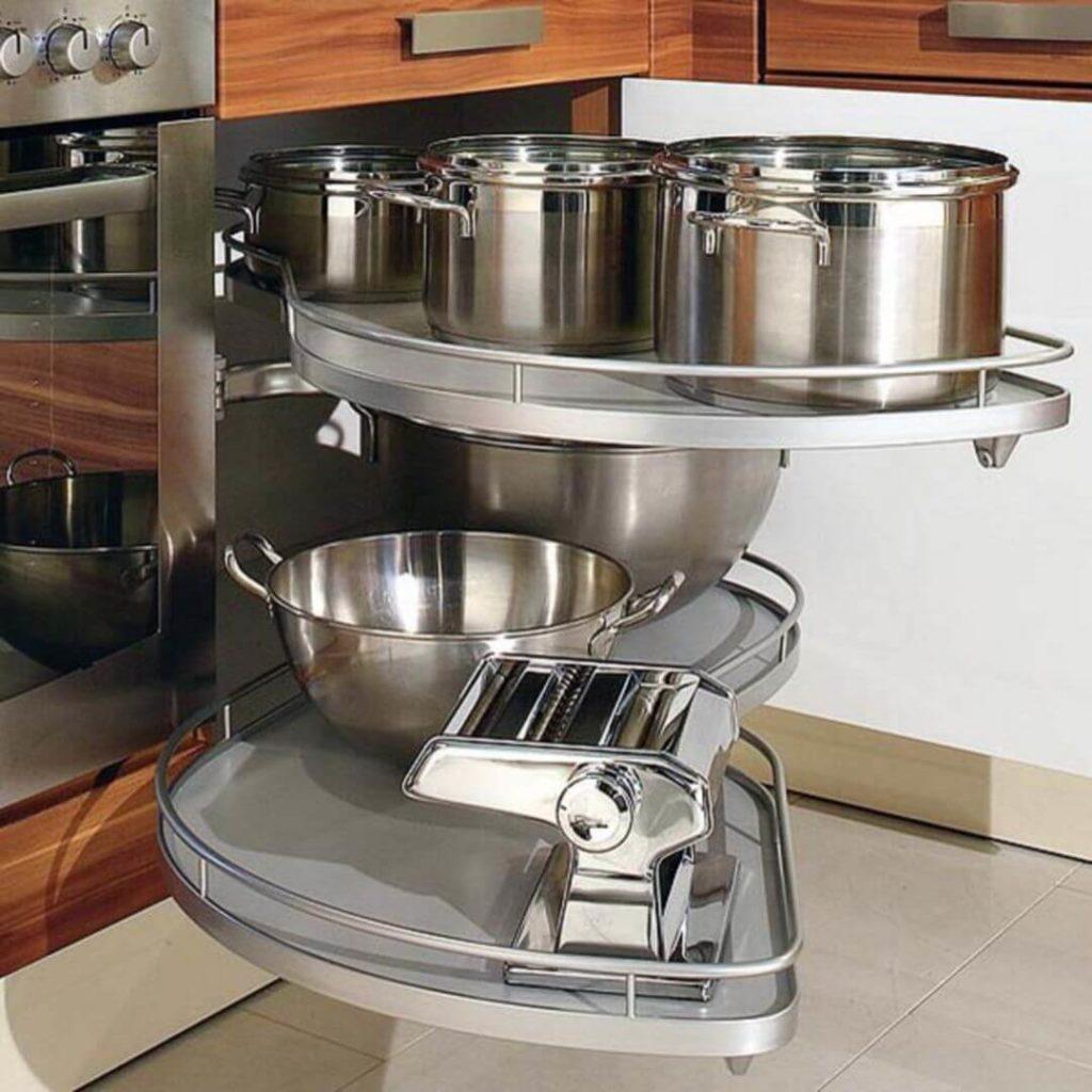 места для хранения вещей на кухне