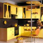 пример желтой кухни