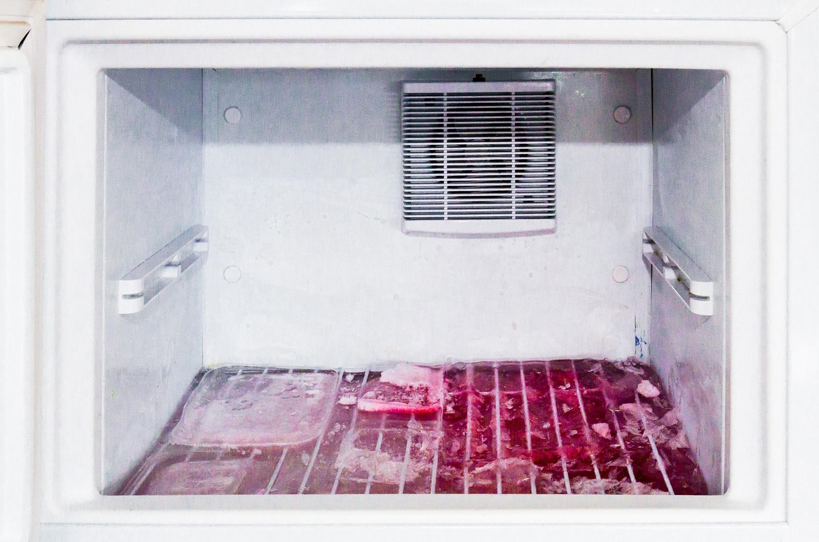 загрязнение морозильной камеры