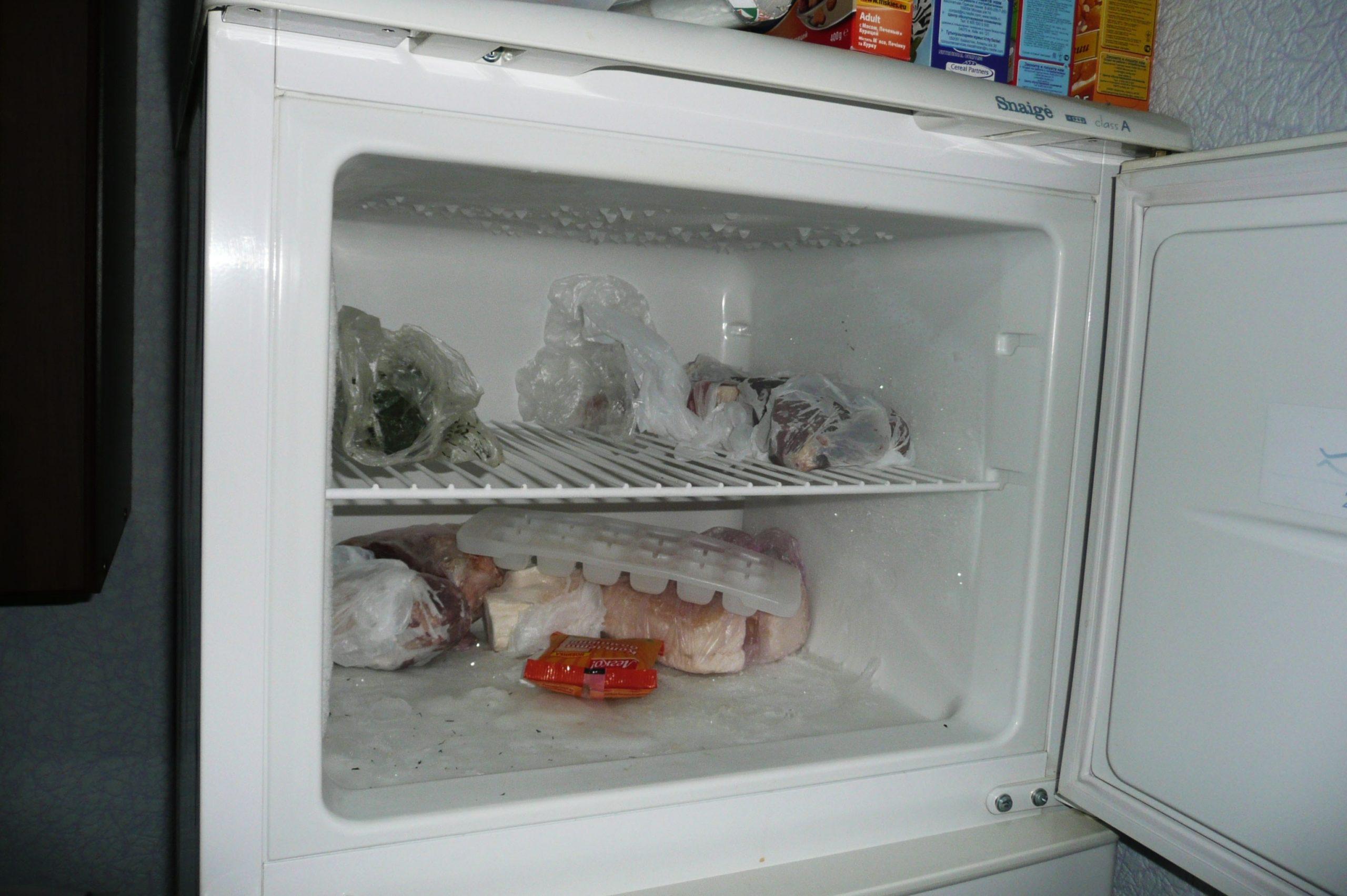 очистка морозильной камеры