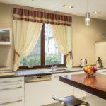 шторы для кухни из натуральных тканей