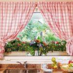шторы в клеточку для кухонного окна