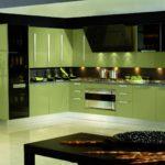 черно-оливковое сочетание - роскошная кухня