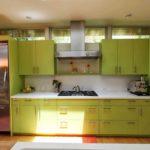покупка кухонного гарнитура оливкового цвета