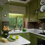 как сочетать оливковые стены с такой же мебелью