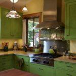 оливковая кухня - добавление коричневого цвета