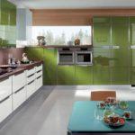 оформление оливковой кухни