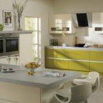 детали на кухне оливкового цвета