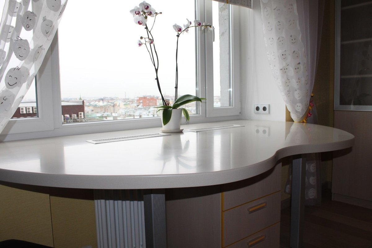 площадь кухни для подоконника