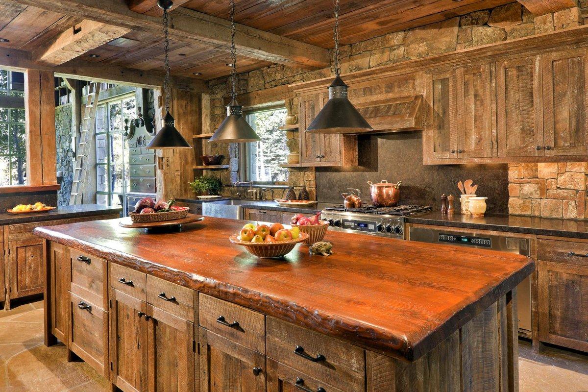 стильные кухни под дерево