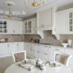 как оформить кухню в белых тонах