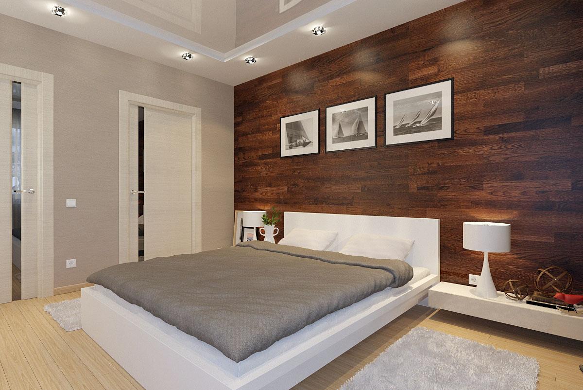 использование плитки в спальне