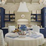 темно-синяя кухня прованс