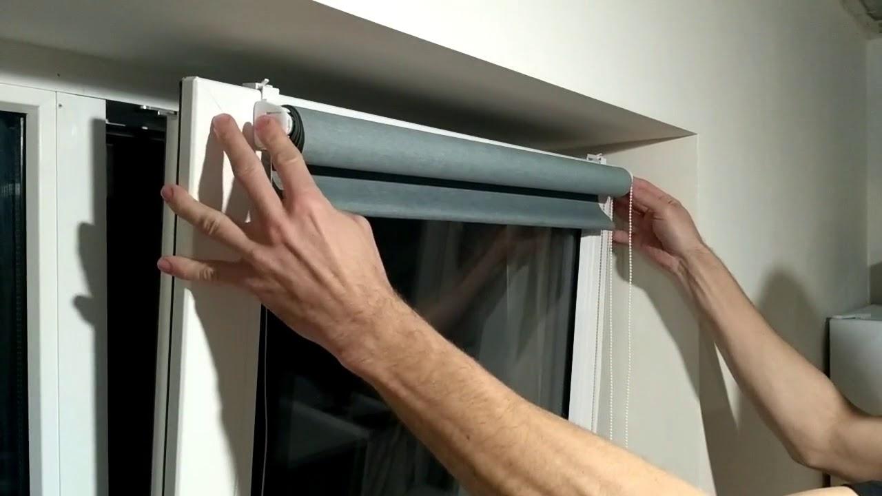 установить шторы