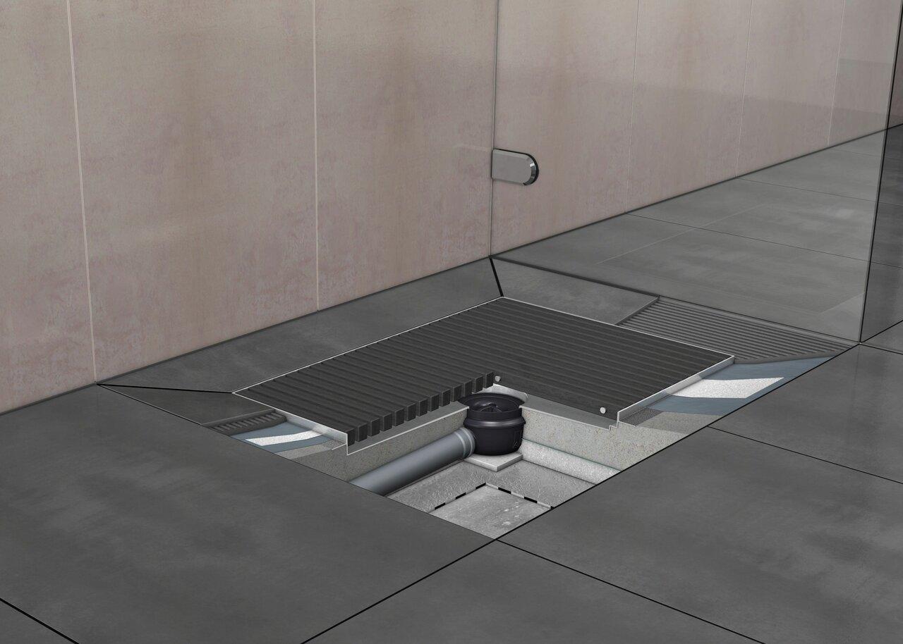 устройство сливного трапа для душевой кабины