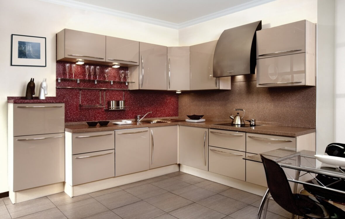 идеи для оформления кухни цвета капучино