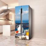 наклейка на холодильник рай