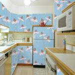 наклейка на холодильник голубая