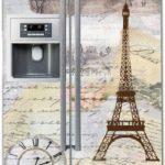 наклейка на холодильник франция