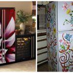 наклейка на холодильник цветы
