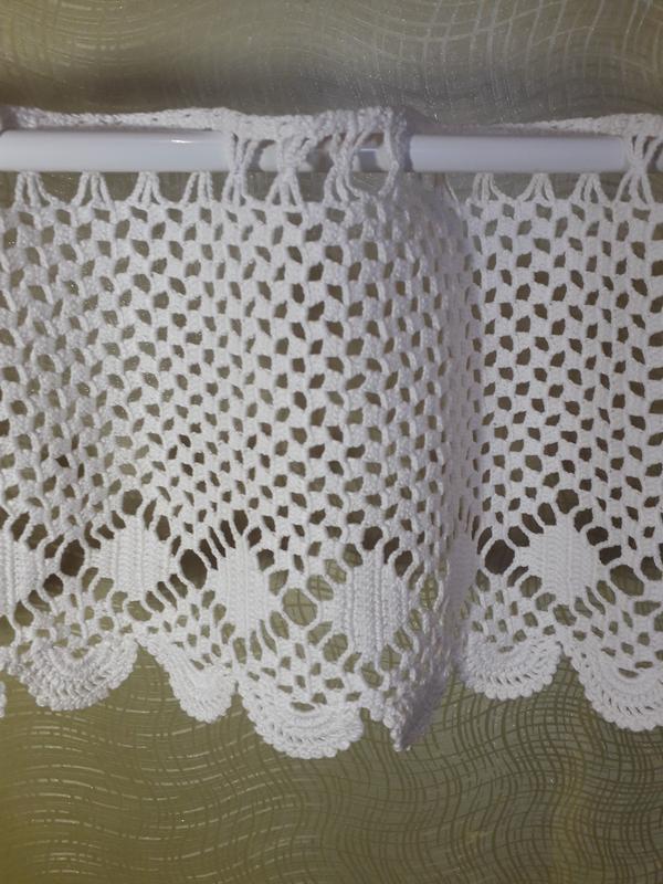 вязаные шторы филейные