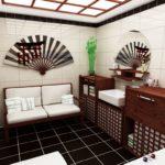 японская ванна с испанской плиткой