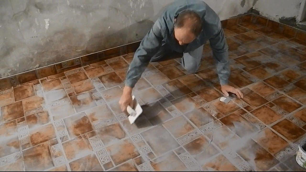 Затирка швов на цементной основе