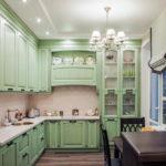 зеленая кухня прованс