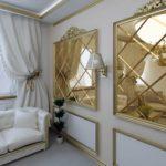 зеркальные стены в интерьере