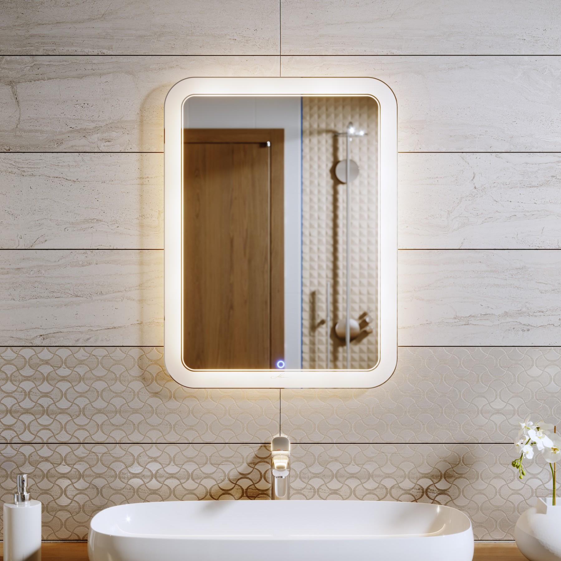 Расположение зеркала в ванной комнате