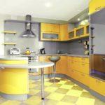 как оформить кухню в желтых тонах