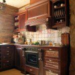 мебель из натурального дерева в английском стиле для кухни