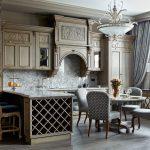 богатый дизайн английской кухни