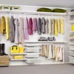 Белая каркасная гардеробная система