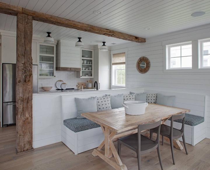 Цвет стен на кухне в деревянном доме