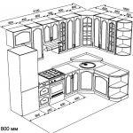 чертеж угловой кухни 3100 х 1800