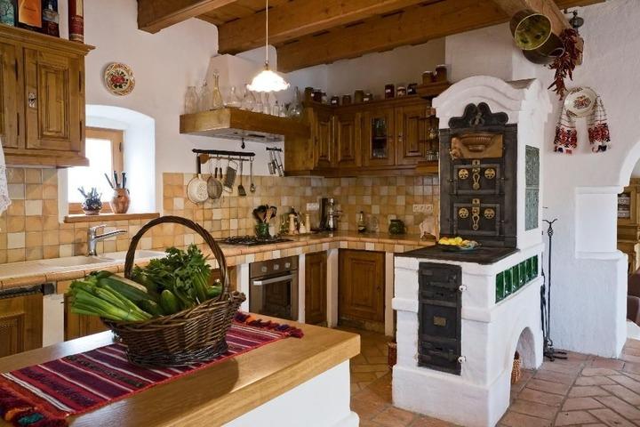 Стильные мелочи в деревенском стиле кухни