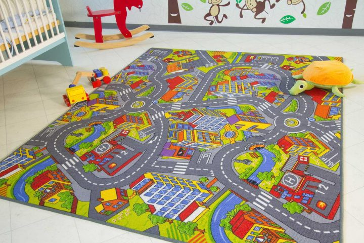 детский коврик икеа с дорогами