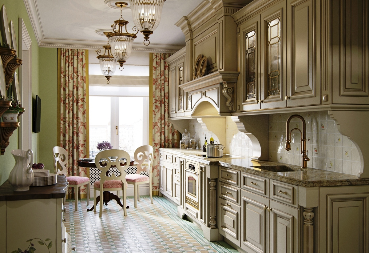 шторы с принтом для кухни