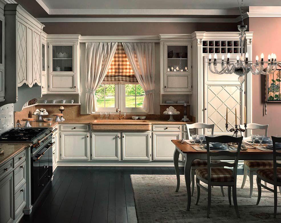 особый интерьер кухни в английском стиле