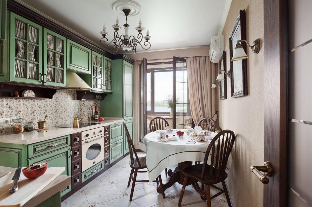 столовая мебель из дерева для кухни