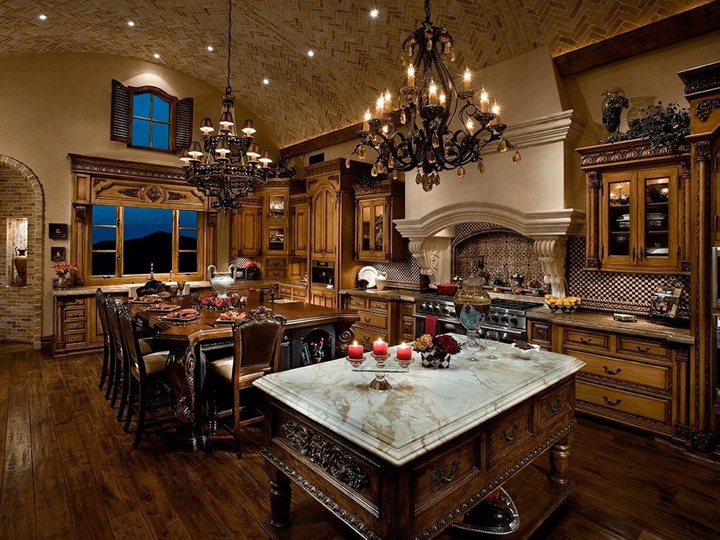 большие люстры для кухни с множеством свечей