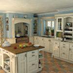 квадратная плитка на полу для кухни в английском стиле