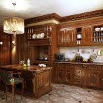 мебель из натурального дерева для кухни в английском стиле