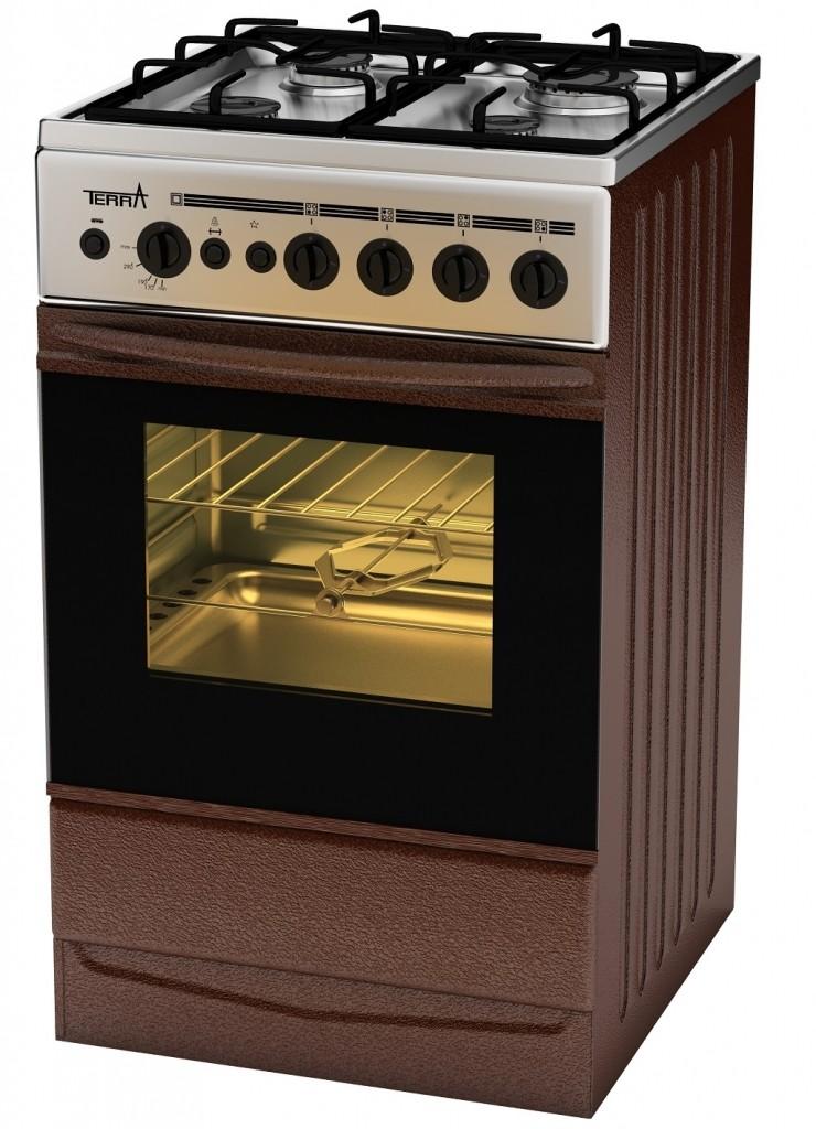 электрическая духовка у плиты