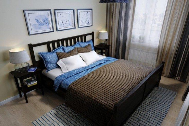 большая кровать от фирмы икеа
