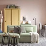 нежно-зеленая мягкая мебель от икеа
