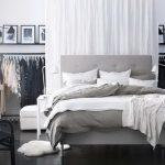 серый и белый цвета для спальни от икеа