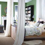 грамотное разделение спальни и гостиной в интерьере от икеа